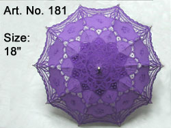 LAVENDER HAND MADE LACE PARASOL