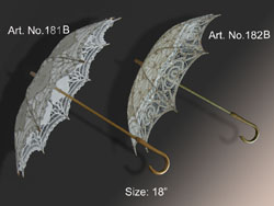 "LACE PARASOL 18"" WITH BATTEN LACE"