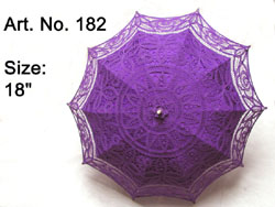 Lavender color battenbury lace parasol