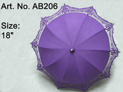 18 inch lavender color  battenbury lace parasols